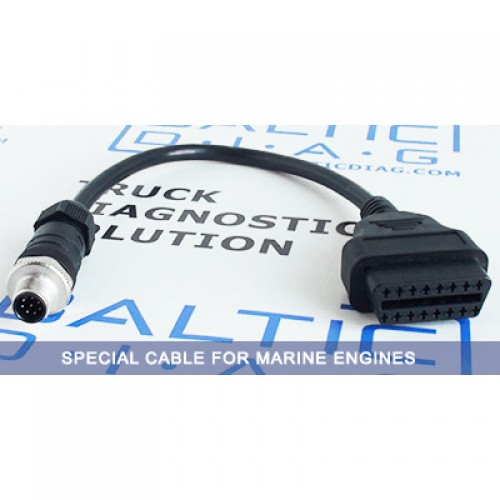 Cable OBD2 - x10 Lumberg cable for MAN Marine