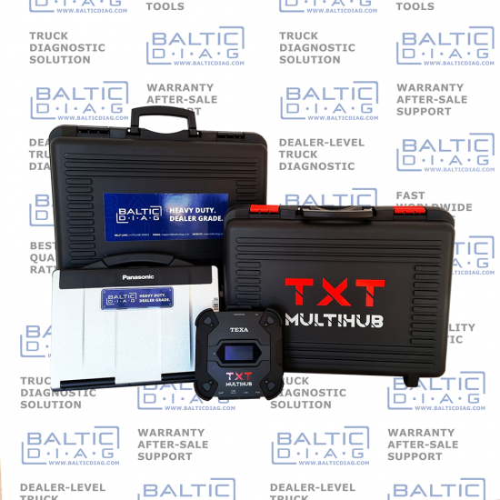 TEXA AGRICULTURE EQUIPMENT DIAGNOSTICS | TXT MULTIHUB | BALTICDIAG LAPTOP