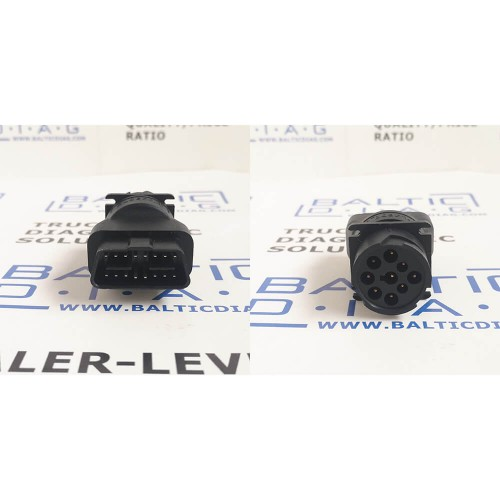 9 Pin to Standard OBD2 Converter Adapter